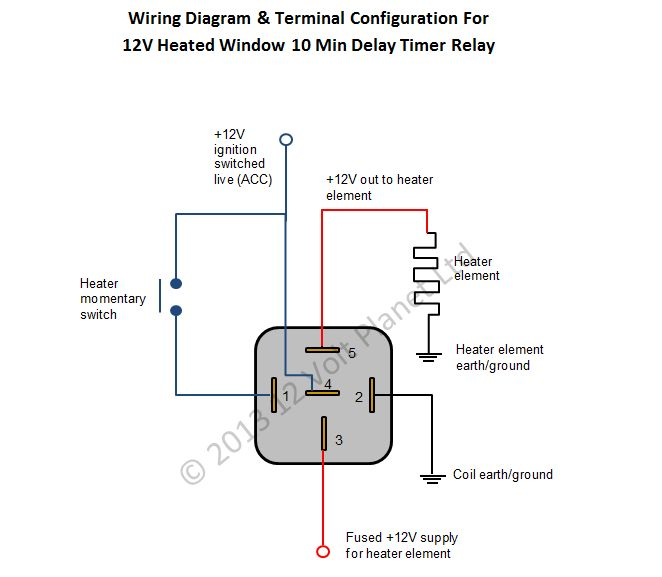 Wiring Diagram 12v Relay : Pin push on switch wiring diagram electrical schematic